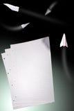 Fogli di carta con le righe fotografia stock libera da diritti