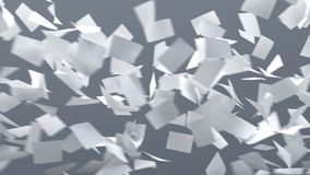 Fogli di carta di volo Fotografie Stock Libere da Diritti