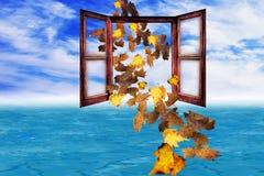 fogli di concetto di autunno di arrivo immagini stock