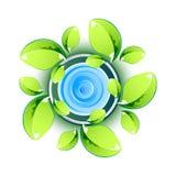 Fogli di verde che mostrano simbolo di Eco Fotografie Stock
