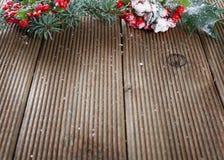 Fogli e bacche dell'agrifoglio Fotografia Stock