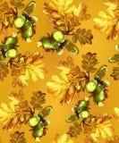 Fogli e castagne di autunno illustrazione vettoriale