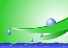 Fogli e goccioline di acqua Immagini Stock