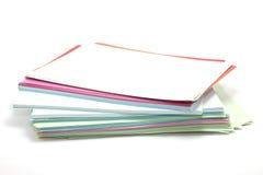 Fogli rettangolari di carta colorata Fotografie Stock Libere da Diritti