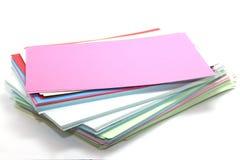 Fogli rettangolari di carta colorata Immagini Stock