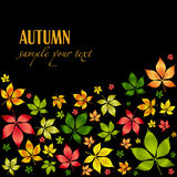 Fogli variopinti di autunno di vettore. Priorità bassa di autunno Fotografie Stock Libere da Diritti