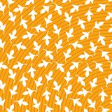 Foglia bianca del fondo giallo dell'estratto di vettore della stampa illustrazione vettoriale
