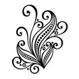 Foglia decorativa con l'ornamento Immagini Stock