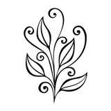 Foglia decorativa con l'ornamento Immagine Stock