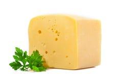 Foglia del prezzemolo e del formaggio Fotografia Stock Libera da Diritti