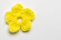 Foglia del trifoglio e del fiore fatta di filato fotografie stock