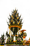 Foglia della banana in decorazione tailandese Immagini Stock