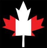 Foglia di acero della bandierina del Canada Fotografie Stock
