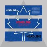 Foglia di acero su fondo dell'hockey della coppa del Mondo Immagini Stock Libere da Diritti