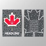 Foglia di acero su fondo dell'hockey della coppa del Mondo Fotografie Stock Libere da Diritti