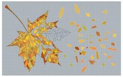 Foglia di autunno del mosaico Immagini Stock Libere da Diritti
