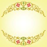 Foglia di oro e progettazione dei fiori Fotografie Stock Libere da Diritti
