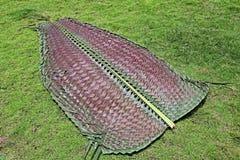 Foglia di palma tessuta della noce di cocco Immagini Stock