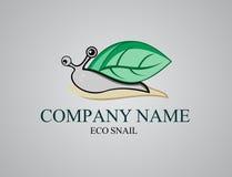Foglia di riserva della lumaca di logo Fotografia Stock Libera da Diritti