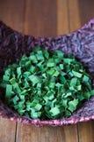 Foglia di verde dell'aroma di profondità di campo in stazione termale Fotografie Stock
