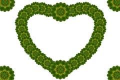 Foglia floreale creativa di cuore Fotografie Stock