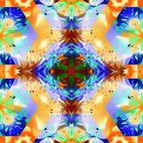 Foglia geometrica del caleidoscopio del batik illustrazione vettoriale