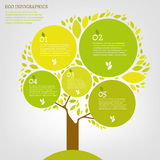 Foglia infographic immagini stock libere da diritti