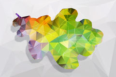 Foglia poligonale Immagini Stock