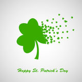 Foglia verde del trifoglio, simbolo della st Patrick Day Illustrazione Vettoriale