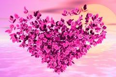 Fogliame del fiore Immagine Stock