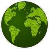 Fogliame della terra verde Immagini Stock