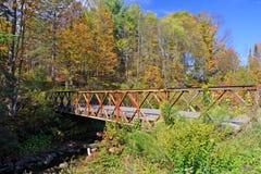 Fogliame di caduta al Vermont, U.S.A. fotografie stock
