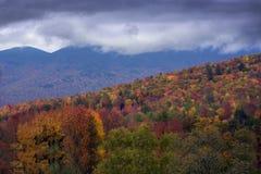 Fogliame di caduta in del New Hampshire Immagine Stock Libera da Diritti