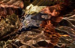 Foglie in acqua in autunno Fotografie Stock