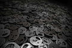 Foglie cadute, museo ebreo Berlino Fotografia Stock Libera da Diritti