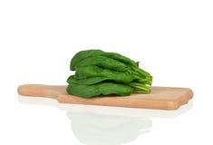 Foglie degli spinaci Immagini Stock Libere da Diritti