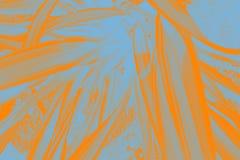 Foglie del blu e dell'arancia Immagine Stock Libera da Diritti