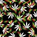 Foglie della canapa di lerciume di Rastafarian illustrazione vettoriale