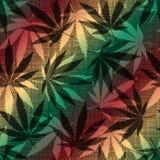 Foglie della cannabis illustrazione di stock