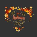 Foglie di acero nere di autunno royalty illustrazione gratis