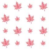 Foglie di acero poligonali di autunno di vettore senza cuciture Immagini Stock Libere da Diritti
