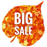 Foglie di Autumn Sales Banner With Colorful ENV 10 royalty illustrazione gratis