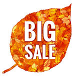 Foglie di Autumn Sales Banner With Colorful ENV 10 illustrazione vettoriale