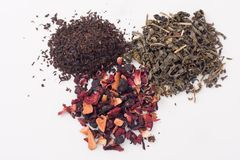 Foglie di tè asciutte assortite Fotografie Stock Libere da Diritti