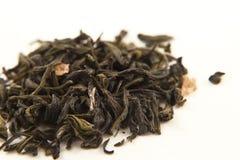 Foglie di tè di verde dell'a fogli staccabili Fotografia Stock Libera da Diritti