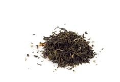 Foglie di tè isolate Fotografia Stock