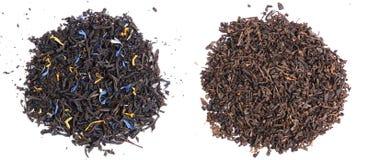 Foglie di tè nere Immagine Stock Libera da Diritti