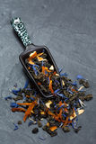 Foglie di tè sciolte Fotografia Stock