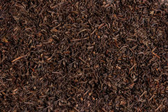 Foglie di tè secche allentate del tè nero, struttura Fotografia Stock Libera da Diritti