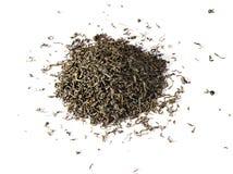 Foglie di tè verdi asciutte fotografia stock libera da diritti